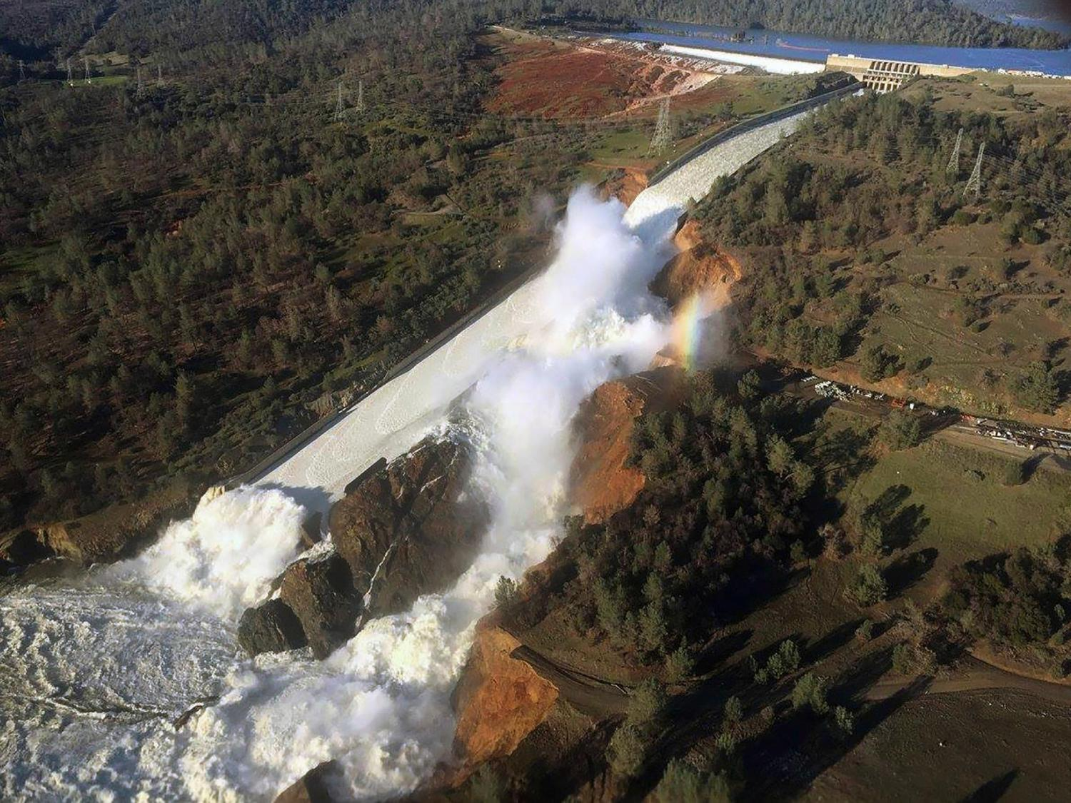 The Oroville Dam on Feb. 11, 2017