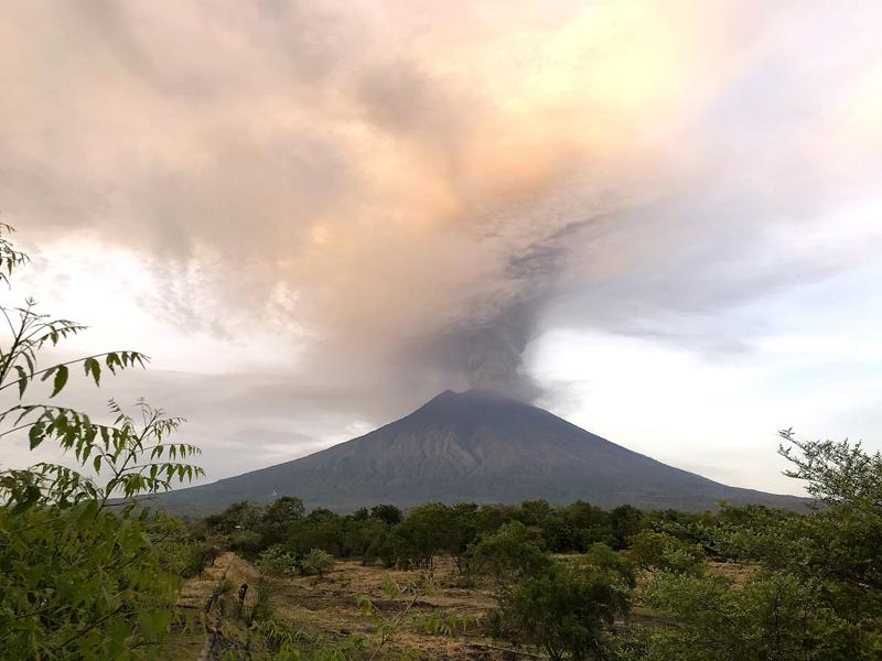 Eruption of Mt. Agung in 2017.