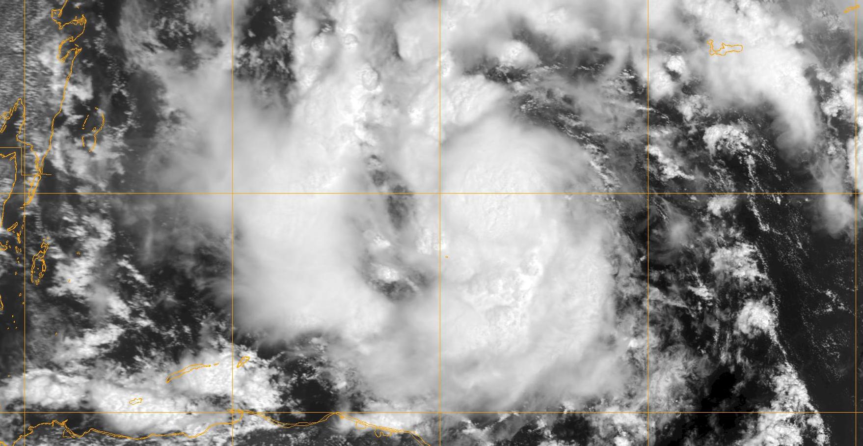 satellite image of Tropical Storm Karl in 2010