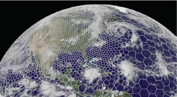 NCAR MPAS hexagonal mesh grid