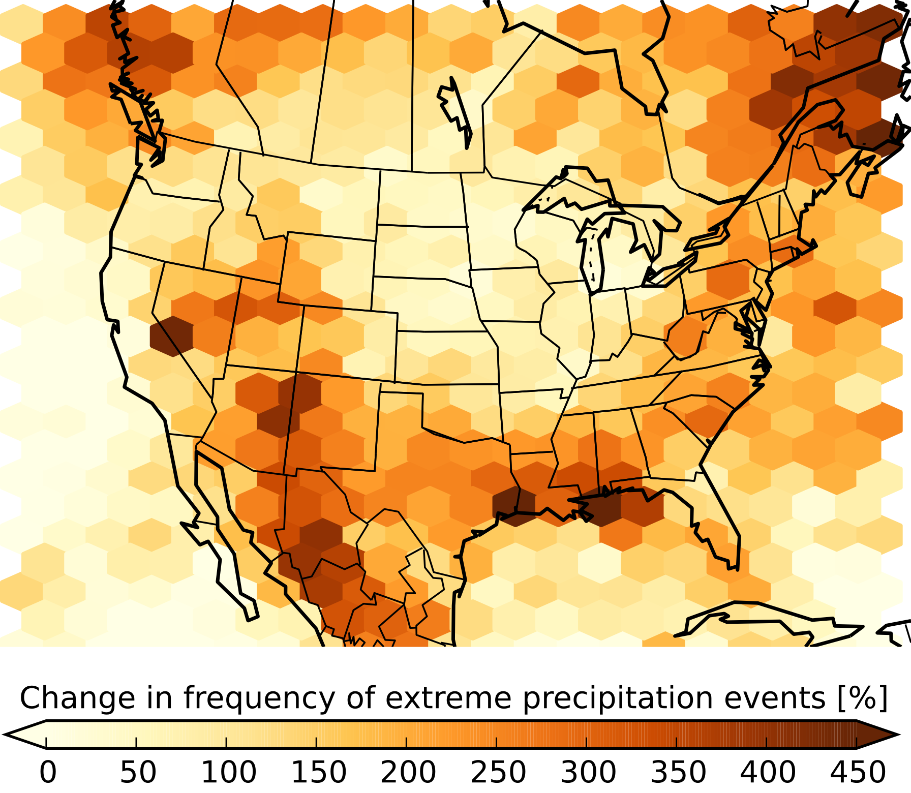 Image illustrating increase in extreme precipitation events