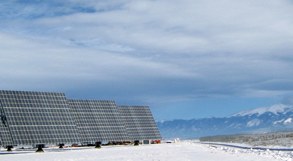 solar panels in Colorado's San Luis Valley