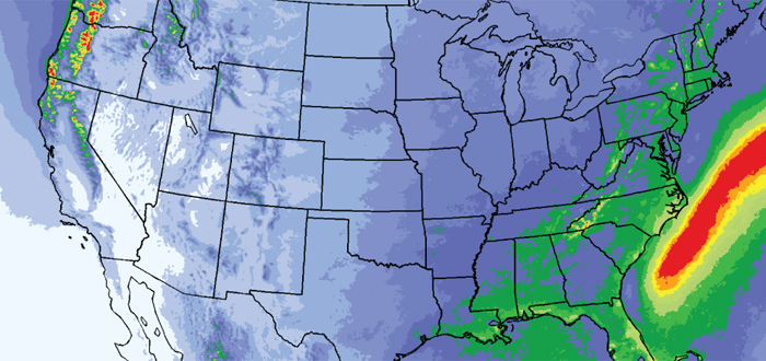 Precipitation in the WRF model