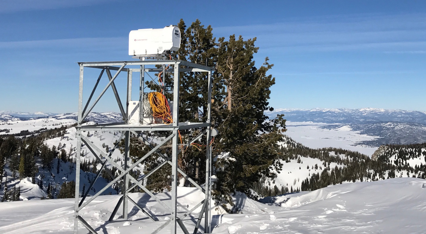photo of snow gauge in Idaho