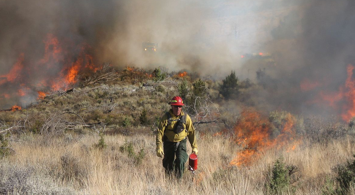 BLM firefighters near Burns, Oregon
