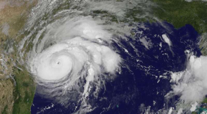 satellite image of Hurricane Harvey (NASA)