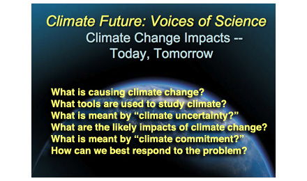 Poster for Climate Future: Voices of Science