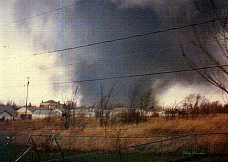 Tornado moves through Xenia, OH, on April 4, 1974