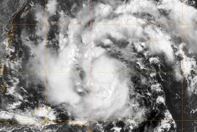 Pools of cool air may help hurricanes develop; satellite image of Tropical Storm Karl.