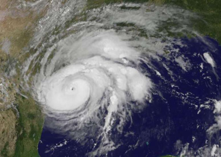 An image of Hurricane Harvey taken by the GOES-16 satellite