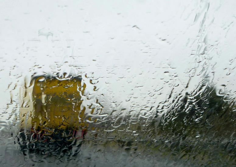 Heavy rain on a window