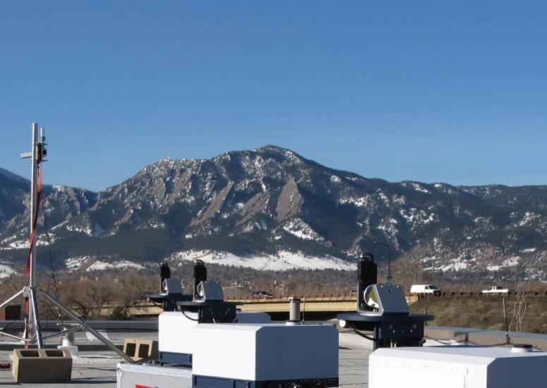 Methane sensors on a rooftop