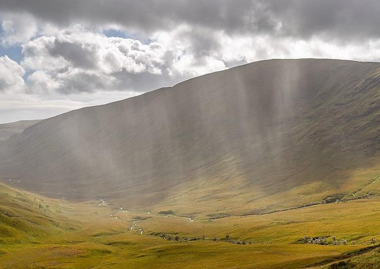 Rain over Beinn Eich, Luss Hills, Scotland