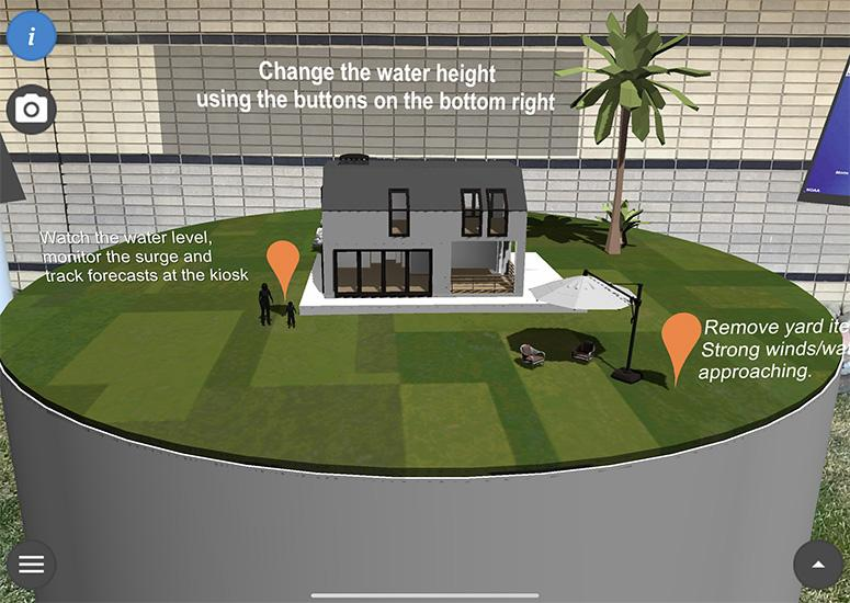 Your house, but flooded: Augmented reality brings storm surge impacts home