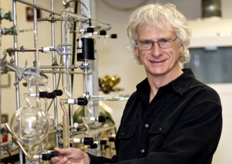 Geoffrey Tyndall working in his lab.