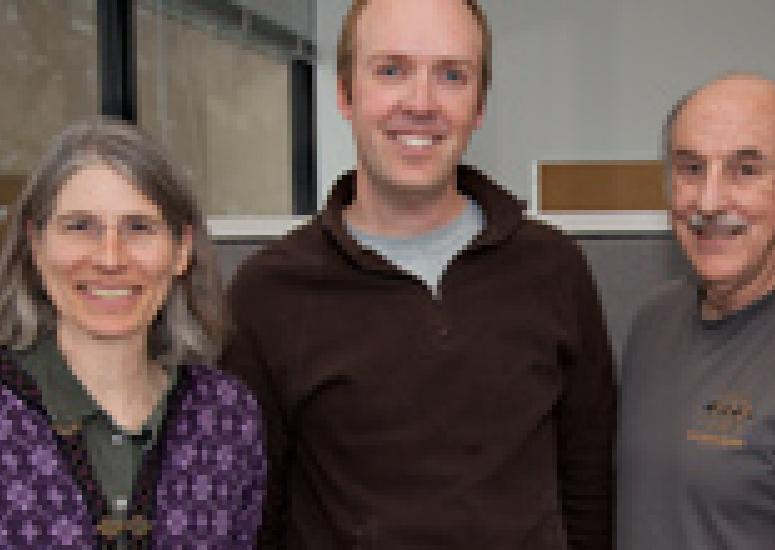 Group photo of Clara Deser, David Schneider, and Dennis Shea