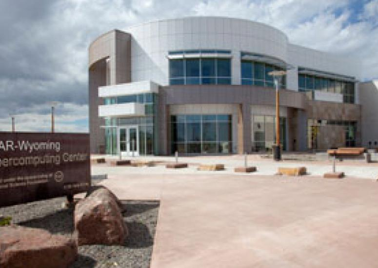 View of the NWSC building from the entry drive