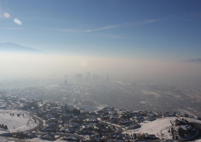Inversion over Salt Lake City, January 2011, related to persistent cold and pollution events
