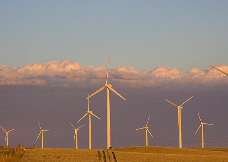 Turbines at Cedar Creek Wind Farm in northeast Colorado