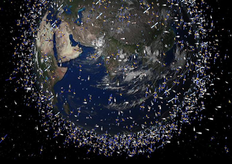Space junk: Artist's depiction of space debris circling Earth