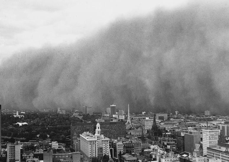 A wall of dust swept across Melbourne, Australia, during the El Nino of 1983