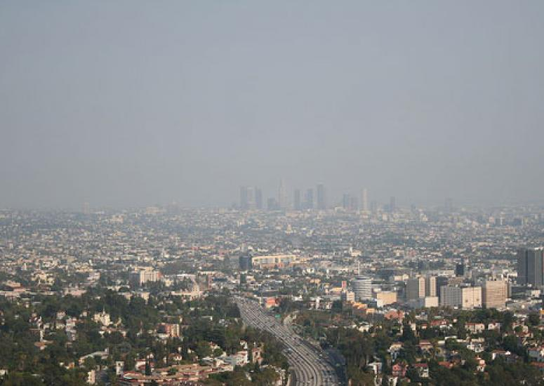 Forecasting air quality: photo of Los Angeles in summer smog