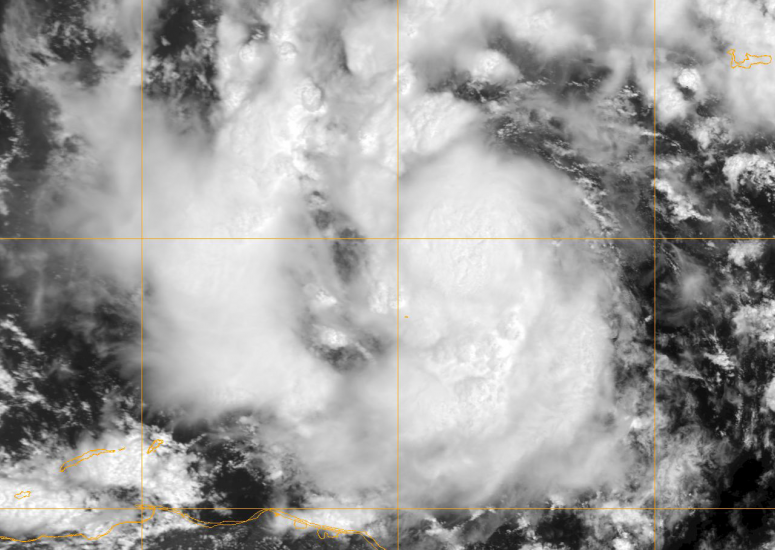 Hurricanes development: satellite image of Tropical Storm Karl in 2010