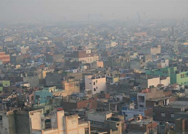 Tracking soot across Asia: Photo of smog over South Delhi