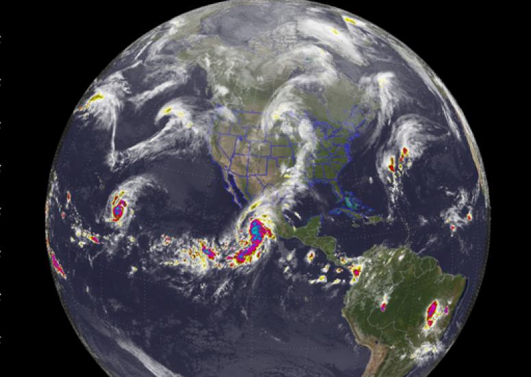 scientific visualization shows Hurricane Patricia