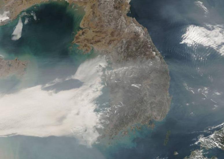 Pollution blows across the Korean Peninsula