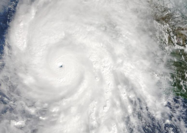 Hurricane Patricia from space