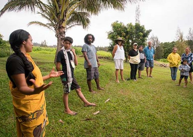 Rising Voice participants on field trip in Hawaii to learn about local climate challenges