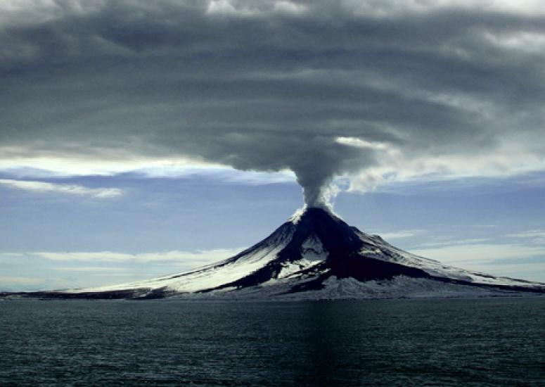Sulfates could limit global warming - image illustrates volcano plume