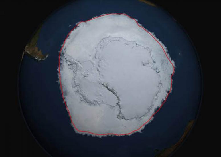 Image of Antarctic sea ice in 2014