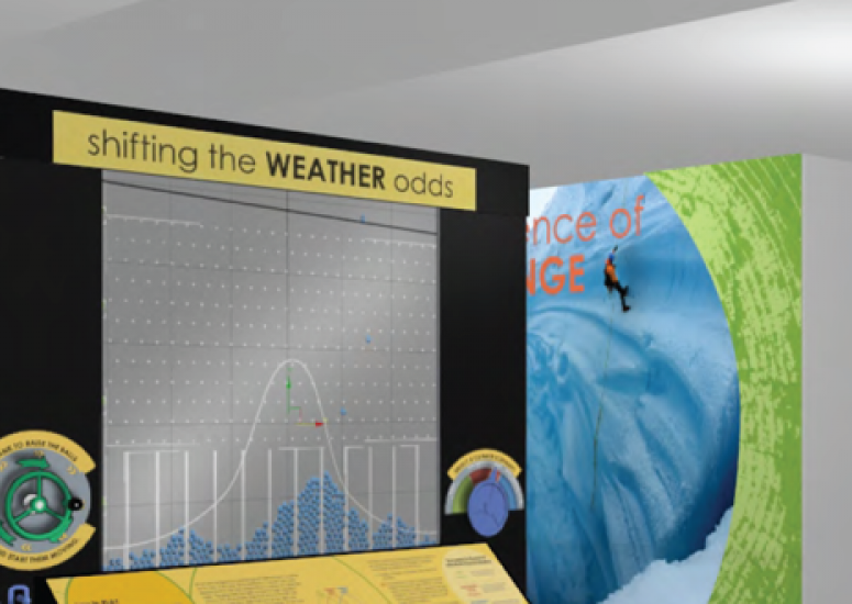 Artist's rendering of new NCAR climate exhibit