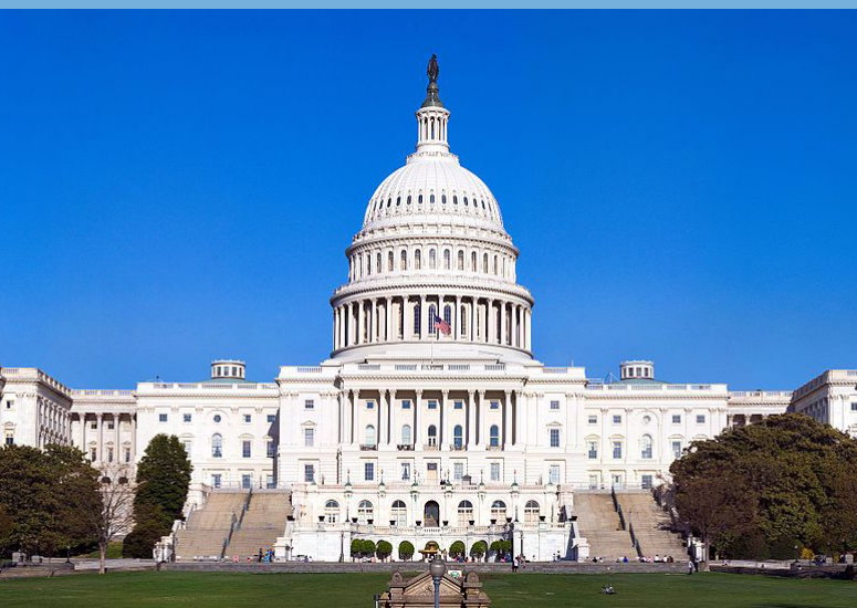 Congress passes law to bolster research: view of US Capitol