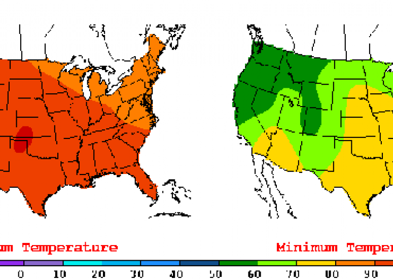 The US will experience more record high temperatures: summer weather map of US