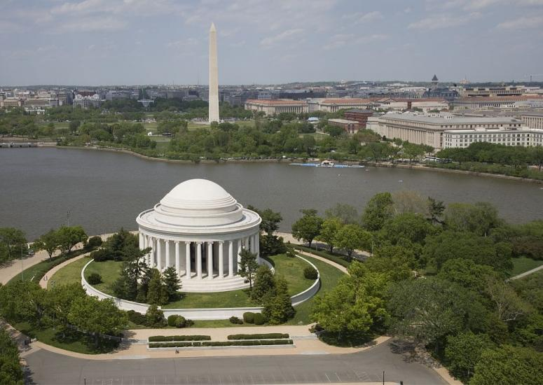 An image of the Jefferson memorial