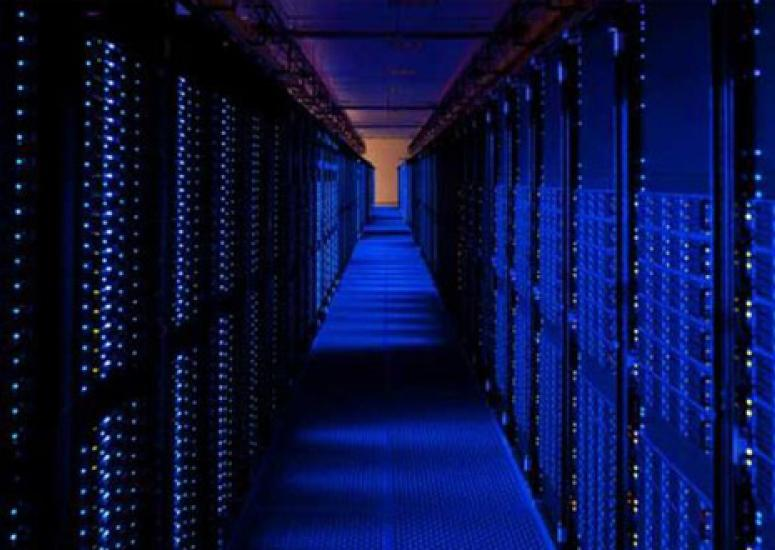 An image of an Amazon Web Services data center.