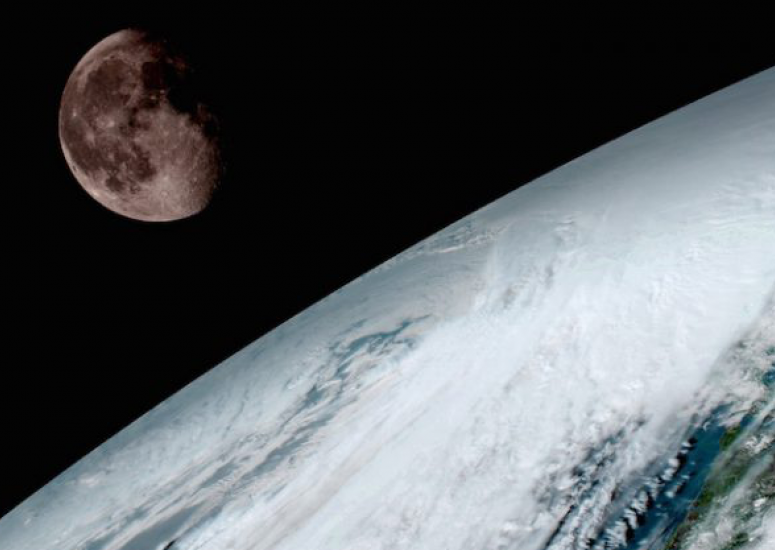 UCAR and NCAR to distribute GOES-16 data: view of Earth and moon by GOES-16