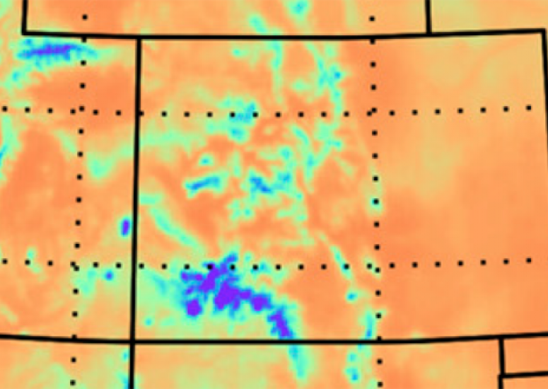 An ICAR model simulation of Colorado