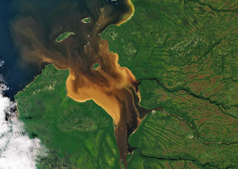 The browning of Rupert Bay, NASA