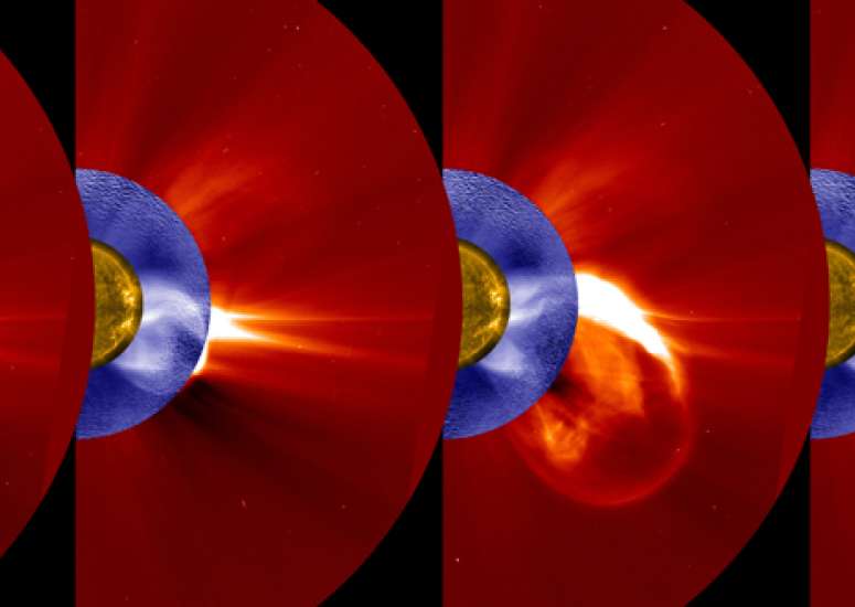 A solar event on Jan. 1, 2016