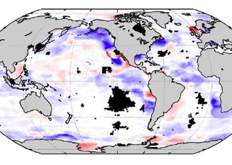 Map of ocean oxygen trend