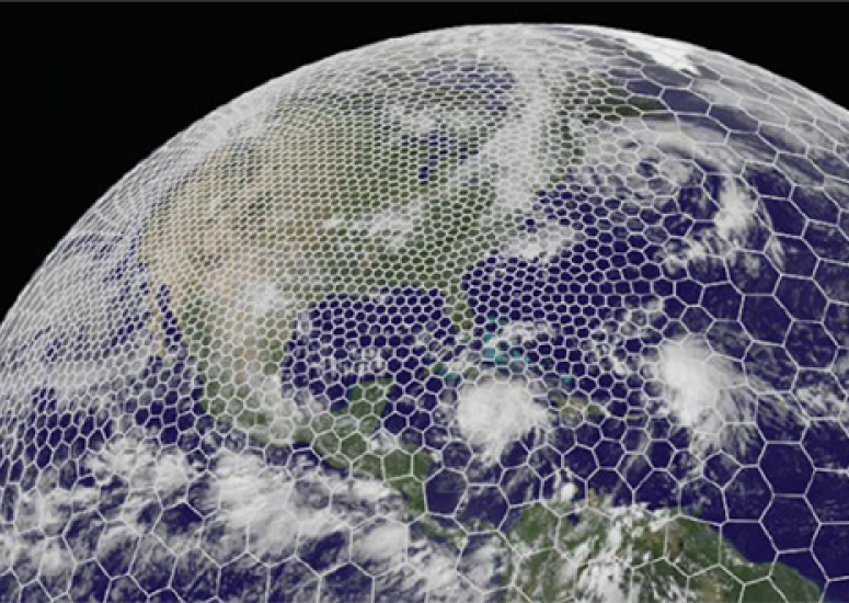 UCAR-Weather Company partnership - image: MPAS simulation