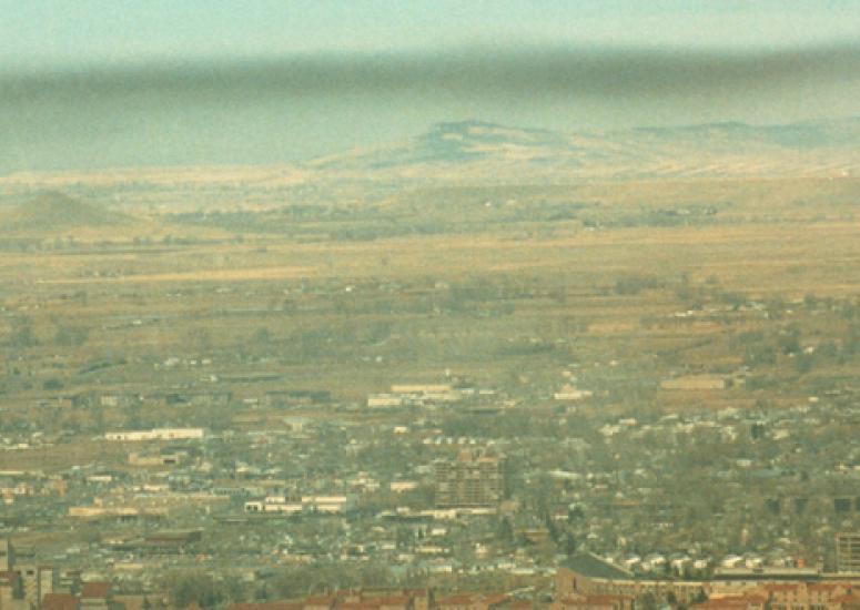 Smog over Boulder