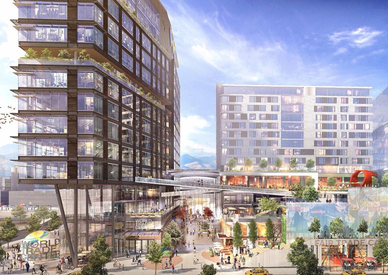 UCAR to co-anchor Colorado's Innovation Corridor - artist's rendition of World Trade Center Denver Development