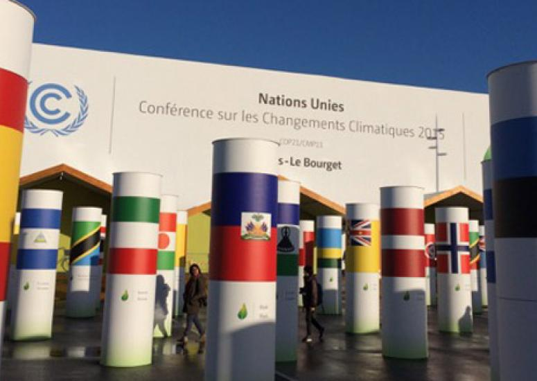 Climate targets: A scene from COP 21 in Paris