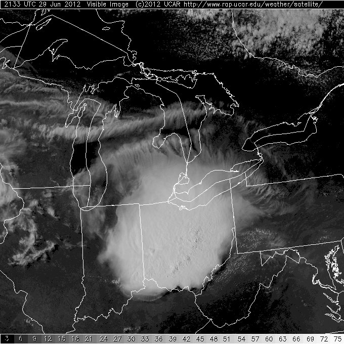 Satellite image of June 29, 2012, derecho