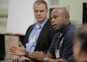 Russell Washington (Federal Emergency Management Agency) addresses a breakout group